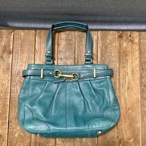 Teal coach handbag